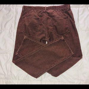Gap sexy boyfriend brown corduroy pants size 27R
